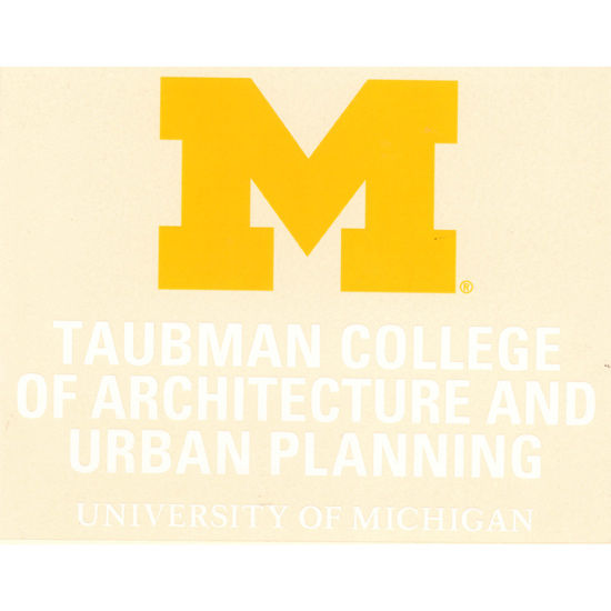WinCraft University of Michigan Taubman College of Architecture Decal