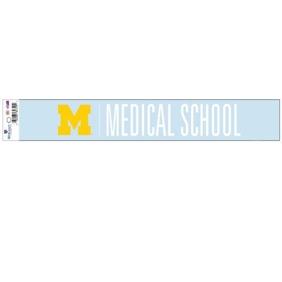 WinCraft University of Michigan Medical School Long Window Decal