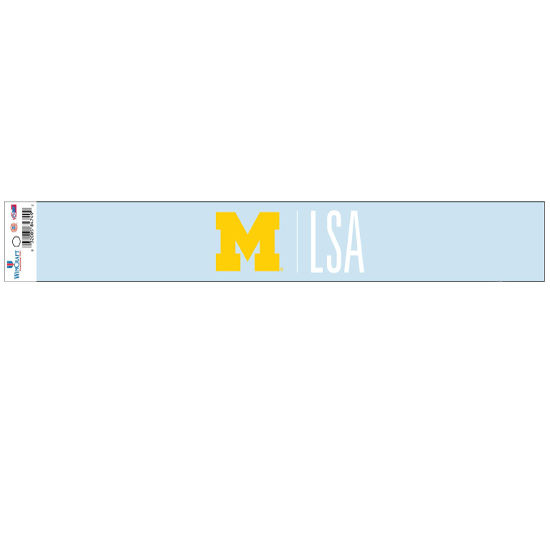 WinCraft University of Michigan L, S, & A. Long Window Decal