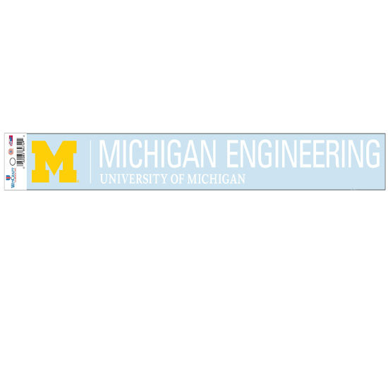 WinCraft University of Michigan Engineering Long Window Decal