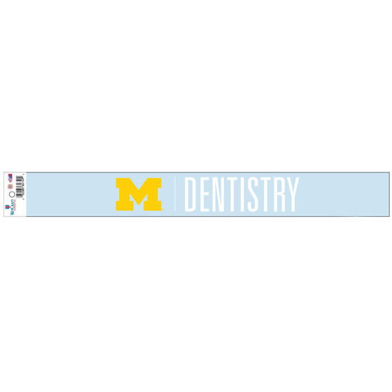 WinCraft University of Michigan School of Dentistry Long Window Decal