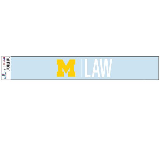 WinCraft University of Michigan Law School Long Window Decal