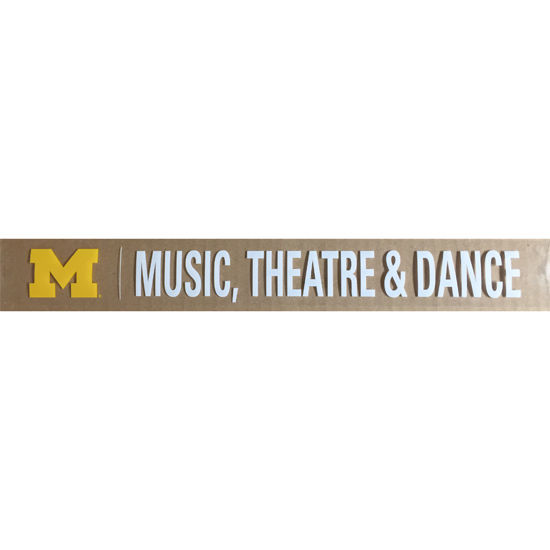 WinCraft University of Michigan School of Music, Theatre and Dance Long Decal