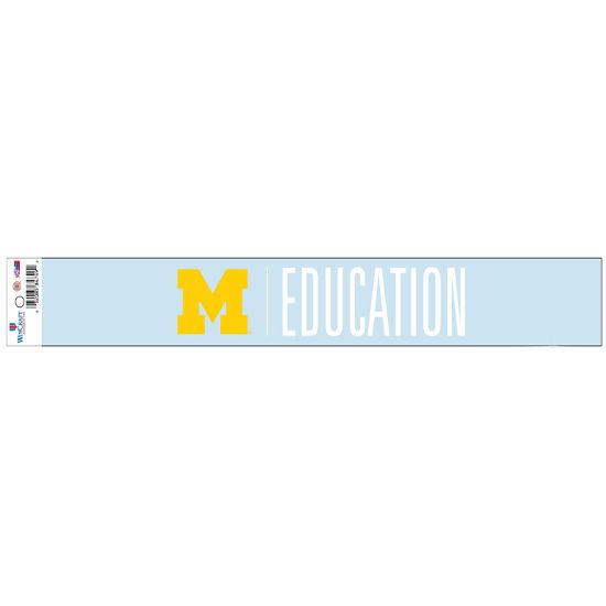 WinCraft University of Michigan School of Education Long Window Decal