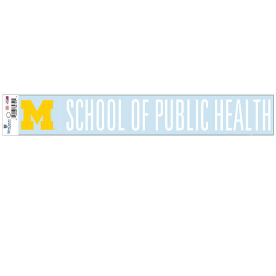 WinCraft University of Michigan School of Public Health Long Window Decal
