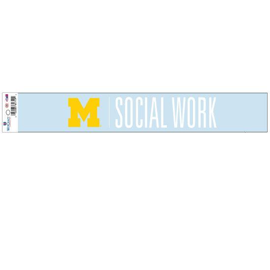 WinCraft University of Michigan School of Social Work Long Window Decal