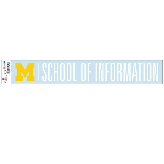 WinCraft University of Michigan School of Information Long Window Decal