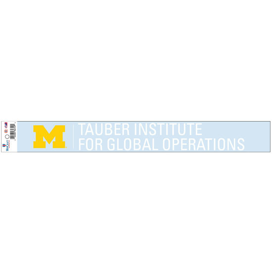WinCraft University of Michigan Tauber Institute Long Window Decal