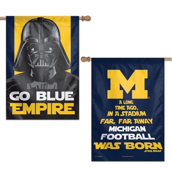 WinCraft University of Michigan Star Wars Go Blue Empire House Flag