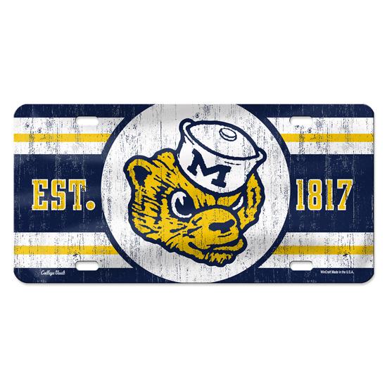 WinCraft University of Michigan College Vault Wolverine Novelty License Plate