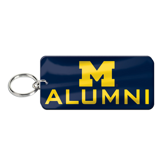WinCraft University of Michigan Alumni Mirrored Rectangular Keychain