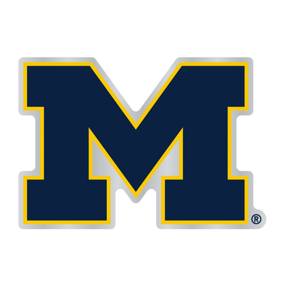 WinCraft University of Michigan Block ''M'' Auto Badge
