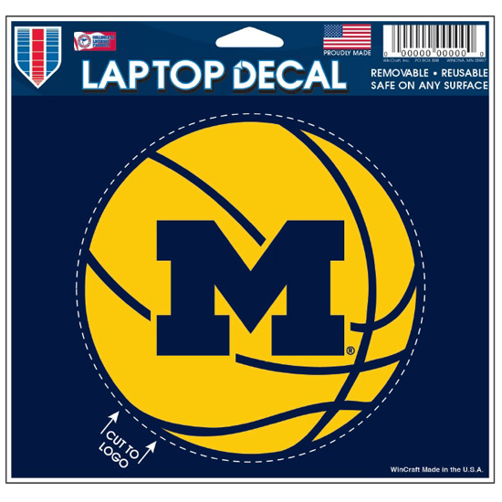 WinCraft University of Michigan Basketball Laptop Decal