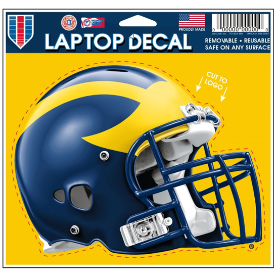 WinCraft University of Michigan Football Helmet Laptop Decal