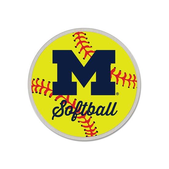 WinCraft University of Michigan Softball Lapel Pin