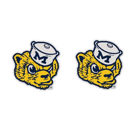 WinCraft University of Michigan College Vault Wolverine Post Earrings