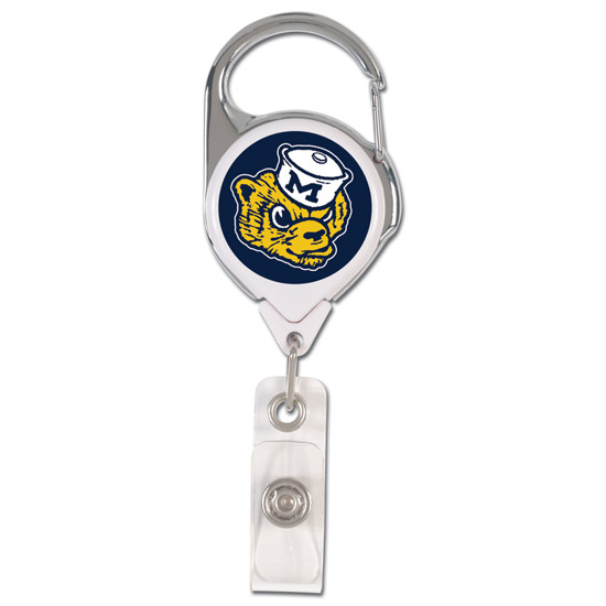 WinCraft University of Michigan College Vault Wolverine Premium Retractable Badge Holder