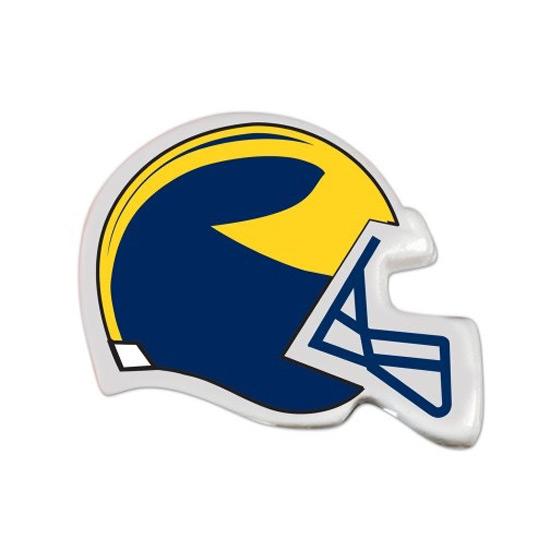 WinCraft University of Michigan Football Helmet Erasers [6 Pack]