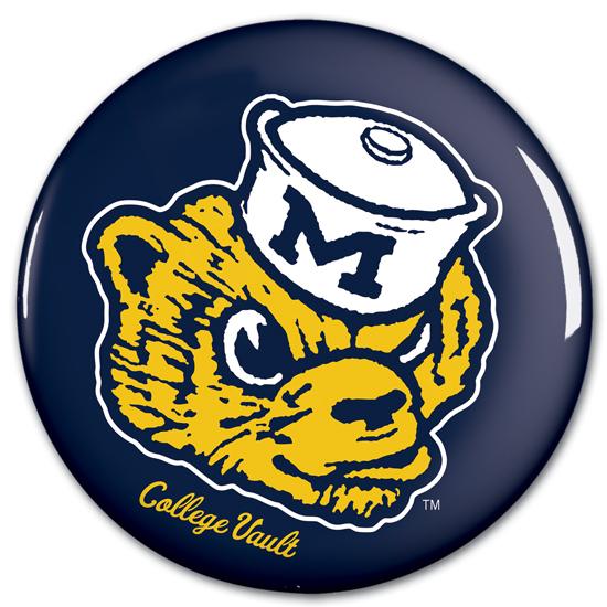 WinCraft University of Michigan College Vault Wolverine Button