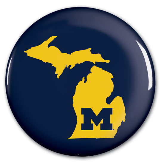 WinCraft University of Michigan State of Michigan Button