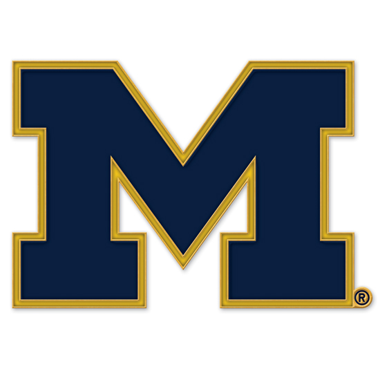 WinCraft University of Michigan Navy Block ''M'' Logo Lapel Pin