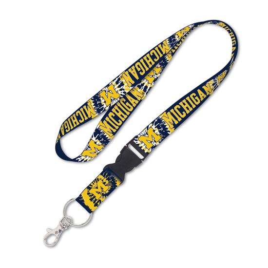 Wincraft University of Michigan Tie Dye Lanyard