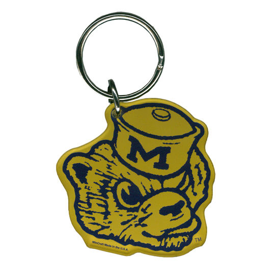 WinCraft University of Michigan Acrylic Vault Wolverine Keychain