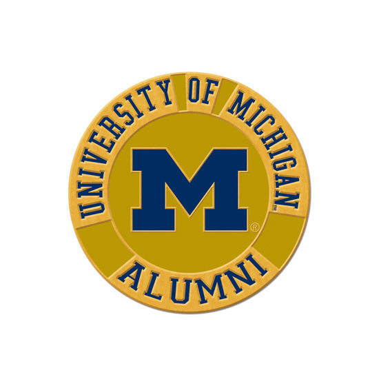 WinCraft University of Michigan Alumni Round Lapel Pin