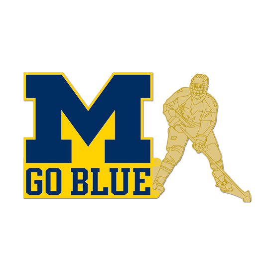 WinCraft University of Michigan Hockey ''M Go Blue'' Player Lapel Pin