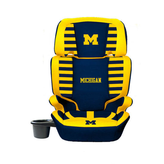 Lil Fan University of Michigan High Back Car Booster Seat