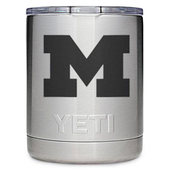 Yeti University of Michigan 10oz. Stainless Steel Rambler Lowball