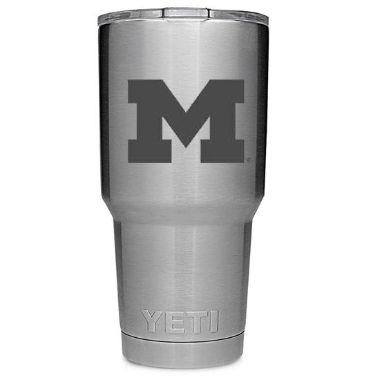 Yeti University of Michigan 30oz. Stainless Steel Rambler Tumbler