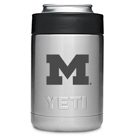Yeti University of Michigan Stainless Steel Rambler Colster Can Cooler