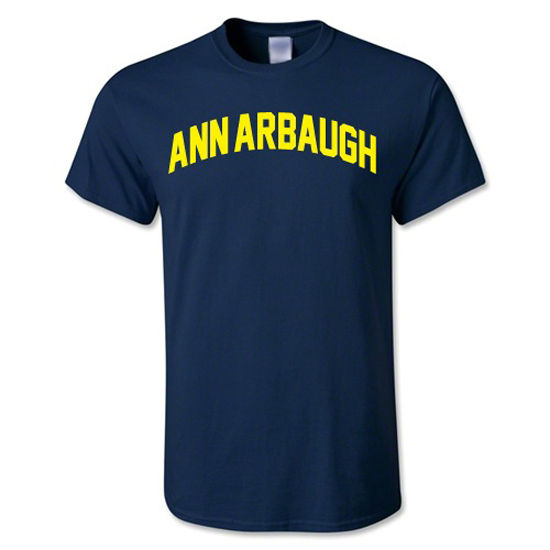 University of Michigan Ann Arbaugh Navy Tee