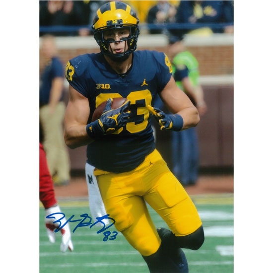 University of Michigan Football Zach Gentry Autographed 8 x 10 Picture