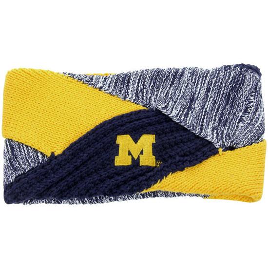 ZooZatz University of Michigan Women's Crisscross Knit Earband