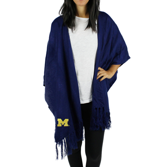 ZooZatz University of Michigan Navy Drill Wrap Scarf