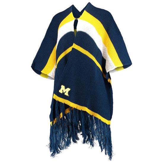 ZooZatz University of Michigan Women's Referee Knit Wrap Poncho