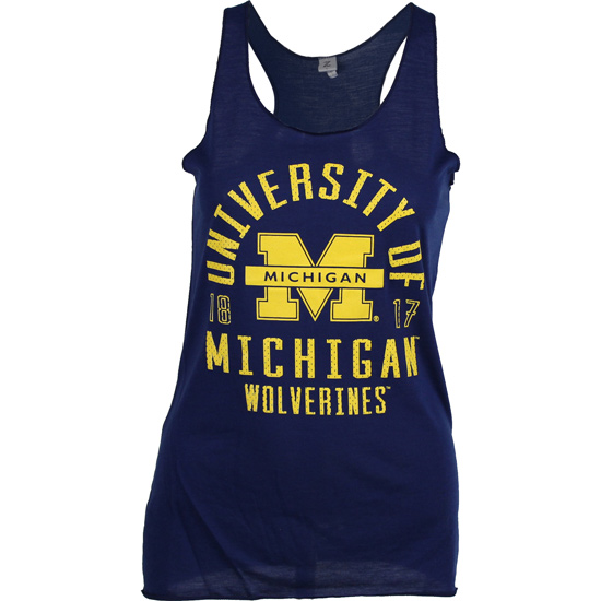 ZooZatz University of Michigan Women's Navy Endurance Tank Top
