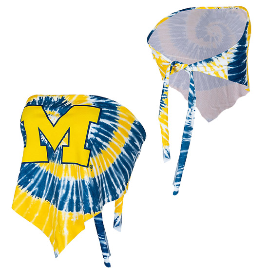 ZooZatz University of Michigan Women's Tie Dye Tie Back Bandeau