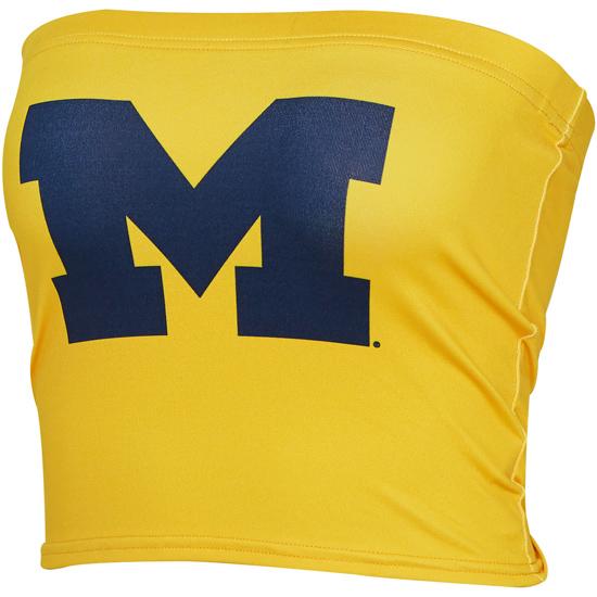 ZooZatz University of Michigan Women's Yellow Tube Top