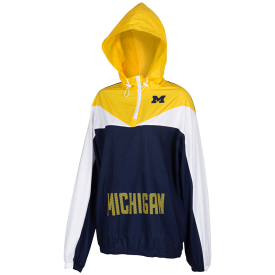 ZooZatz University of Michigan Women's Energizer Swishy 1/4 Zip Pullover Jacket