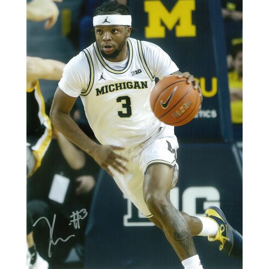 University of Michigan Basketball Zavier Simpson Autographed 8x10 Photo