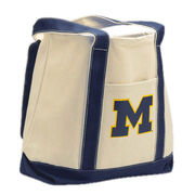 Carolina University of Michigan Boat Tote Bag