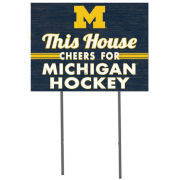 KH Sports Fan University of Michigan Hockey ''This House Cheers'' Yard Sign