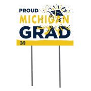 KH Sports Fan University of Michigan ''Proud Michigan Grad'' Yard Sign