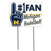 KH Sports Fan University of Michigan Basketball #1 Fan Yard Sign