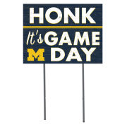KH Sports Fan University of Michigan ''Honk! It's Game Day'' Yard Sign