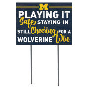 KH Sports Fan University of Michigan ''Playing It Safe'' Yard Sign