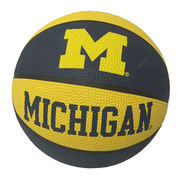 Baden Michigan Wolverines Mini Rubber Basketball